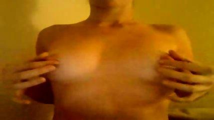 Webcam slut plays with boobies - scene 3