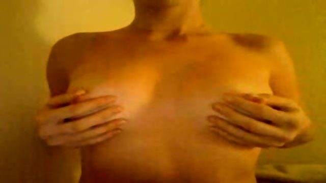 Webcam slut plays with boobies