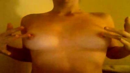 Webcam slut plays with boobies - scene 6