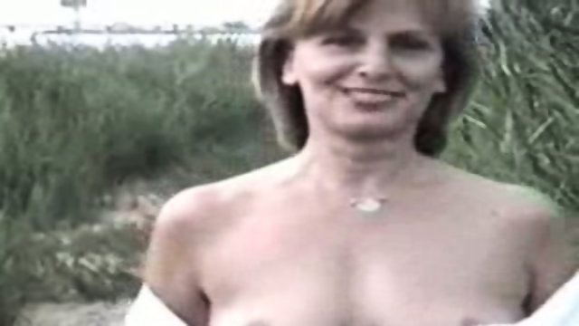 Nude mature in the wild