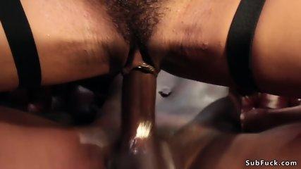 Sweat ebony in stockings orgy fucked