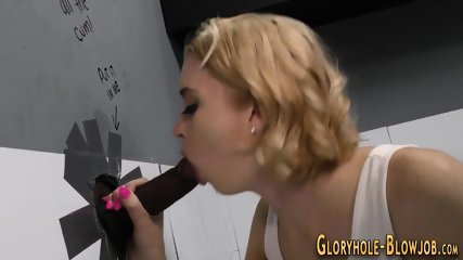 Teen at gloryhole sucks