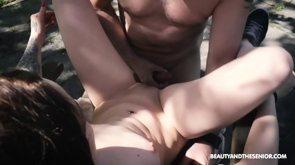 Skinny Teen Rides Older Guy - scene 8