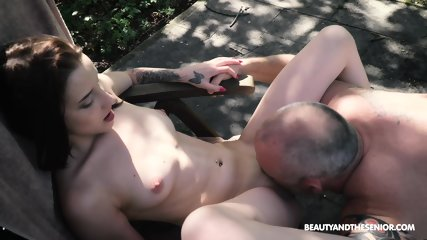 Skinny Teen Rides Older Guy - scene 9
