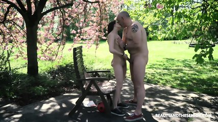 Skinny Teen Rides Older Guy - scene 10