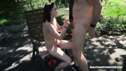 Skinny Teen Rides Older Guy - scene 12