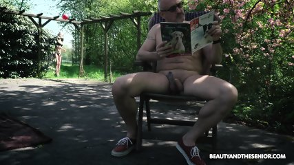 Skinny Teen Rides Older Guy - scene 1