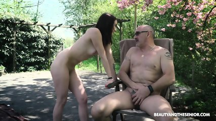 Skinny Teen Rides Older Guy - scene 3