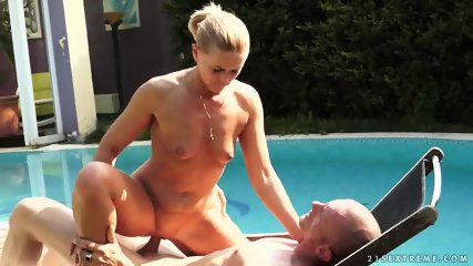 With Nice Blonde At The Pool - scene 9