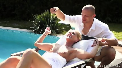 With Nice Blonde At The Pool - scene 1
