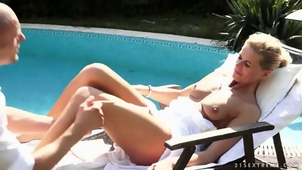 With Nice Blonde At The Pool - scene 3