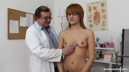 Redhead With Glasses Needs Doctor's Help - scene 2