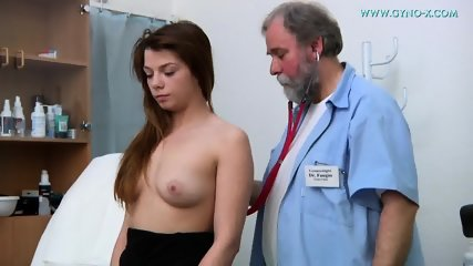Brunette Needs Gyno Exam - scene 1