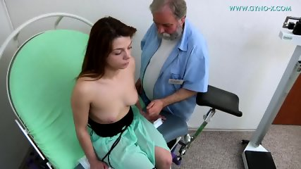 Brunette Needs Gyno Exam - scene 2