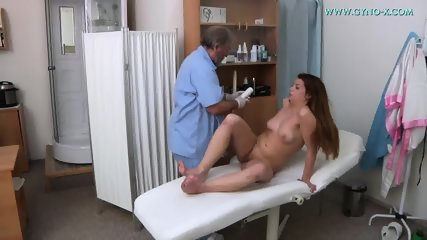Brunette Needs Gyno Exam - scene 5