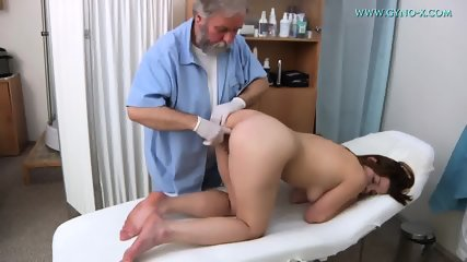 Brunette Needs Gyno Exam - scene 7