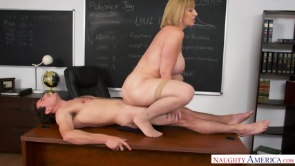 Busty MILF Is Horny Teacher - scene 10