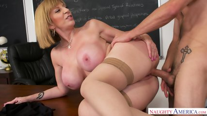 Busty MILF Is Horny Teacher