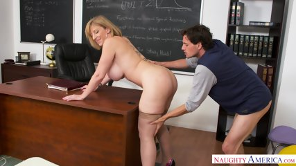 Busty MILF Is Horny Teacher - scene 7