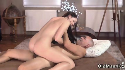 Sexy old panties and bisexual couple young man Vacation in mountains