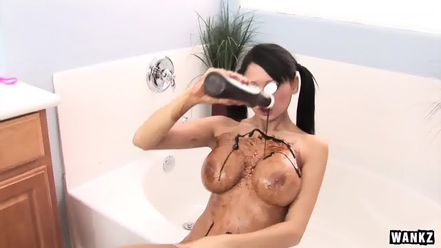 Busty Babe And Chocolate Sauce