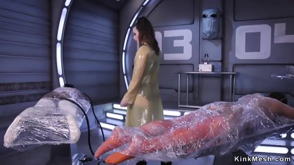 Alien lesbian anal toys Earth slaves