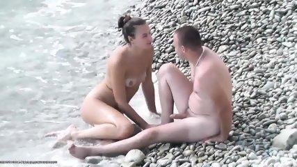 Amateur Couple Has Sex On The Beach - scene 8