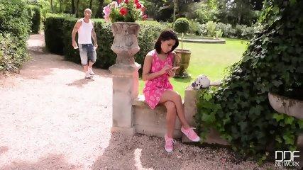 Nikita Bellucci Gets Abused In The Garden - scene 1