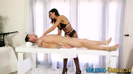 Cock bouncing masseuse