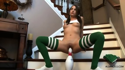 Girl With Puffy Pussy Likes Sport