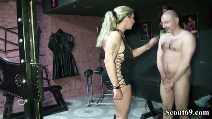 Two German Dominas In Femdom Fuck With Her Slave In Dom - scene 1
