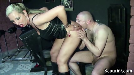 Two German Dominas In Femdom Fuck With Her Slave In Dom - scene 6
