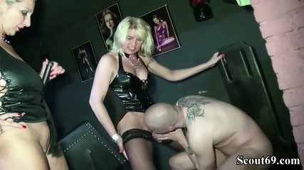 Two German Dominas In Femdom Fuck With Her Slave In Dom - scene 7