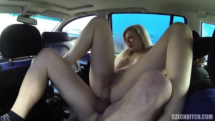 Hardcore Sex In The Car With European Slut - scene 9