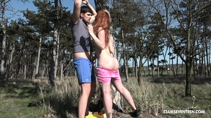 Outdoor Sex With Horny Redhead Girl - scene 6