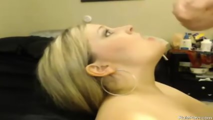 Busty Web Cam Girl Fucking And Takes Facial - scene 8