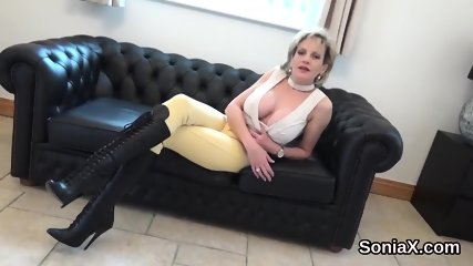 Adulterous english milf gill ellis shows off her massive breasts