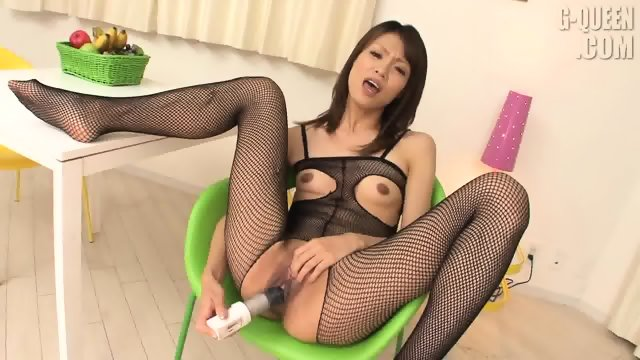 Exotic Girl With Sexy Suit Plays With Herself