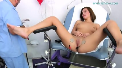 Young Brunette Gets Gyno Exam - scene 8