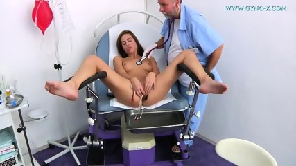 Young Brunette Gets Gyno Exam - scene 10