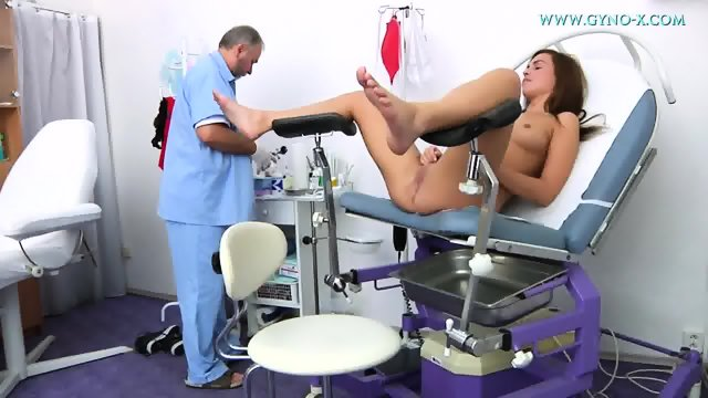Young Brunette Gets Gyno Exam