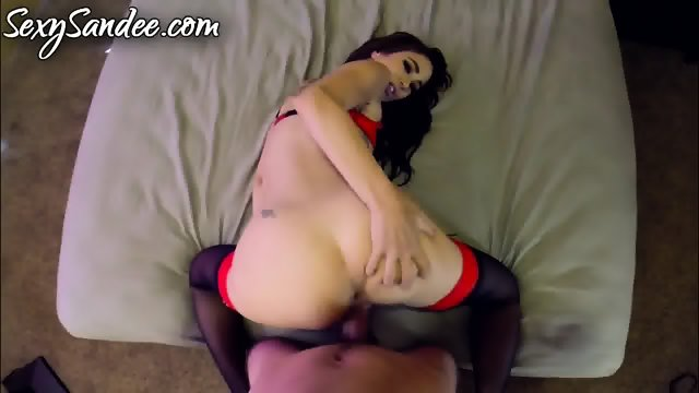 Sexy Babe With Stockings Takes Hard Cock