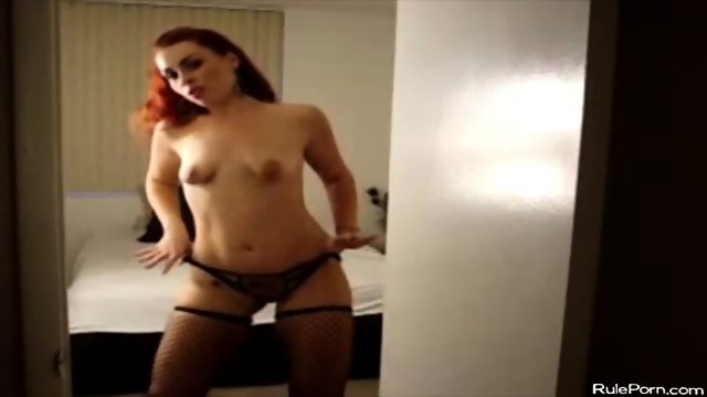 Hot Redhead Wife Dancing