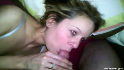 Wife Gives Blowjob While Husband Record Pov - scene 10