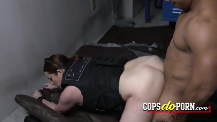 Black latino gets caught stealing purse and taken by horny milf cops