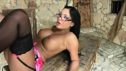 Busty Lady With Stockings Likes Kinky Games - scene 12