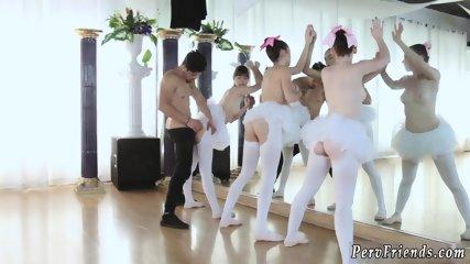 Blonde college babe party Ballerinas