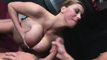Cum On Her Big Tits After Face Fucking
