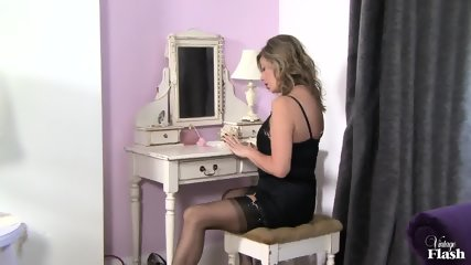 Sexy Stockings On Her Legs - scene 3