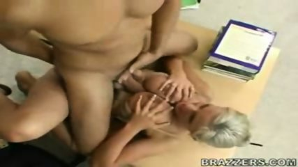 Big tit tattooed MILF sitting and riding - scene 1